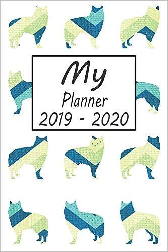 My Planner 2019 - 2020: Alaskan Malamute Dog Blue Pattern ...
