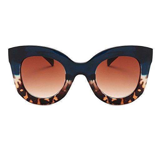 Alloy Eyeglass Frame (Rumas Thick Frame Oversized BZ674 Sunglasses for Women Men, Anti-UV Shades Eyeglasses, Cat Eye Sunglasses for Wayfarer Driving Fishing (F))