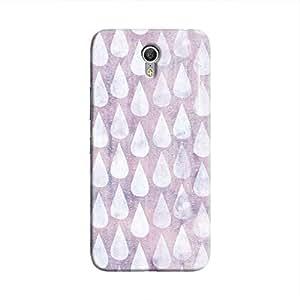 Cover It Up - Raindrops Print Purple Zuk Z1 Hard Case