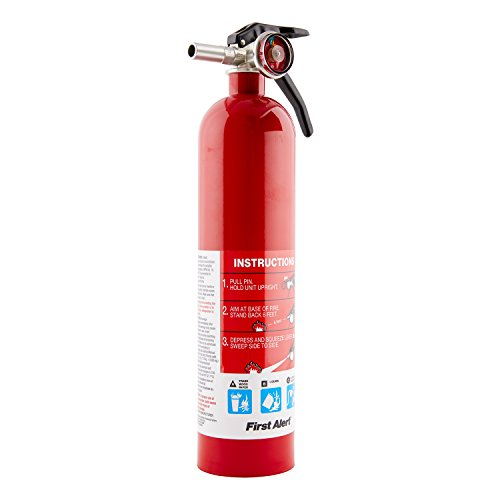 First Alert Rechargable Standard Home Fire Extinguisher, Red (Extinguisher Fire Small)
