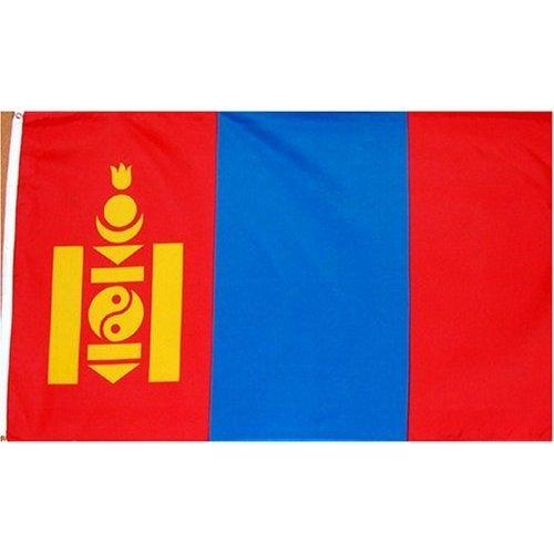 Mongolia Flag Polyester 3 ft. x 5 ft.