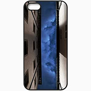 Protective Case Back Cover For iPhone 5 5S Case Home Sky Night Black wangjiang maoyi
