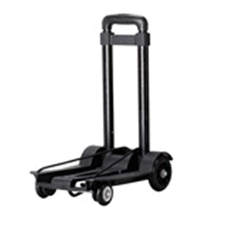 LXY Trolley Household Folding Portable Mute Trolley Car Shopping Cart Luggage Car Retractable Weight Bearing 40kg Trolley (Color : A)