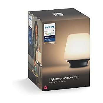 Philips Hue White Ambiance Wellness Dimmable LED Smart Table Lamp (Compatible with Amazon Alexa, Apple HomeKit, and Google Assistant)