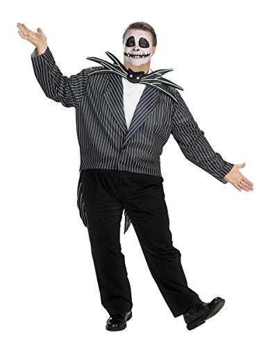 Jack Skellington Plus Size Adult Costume - (Halloween Costumes Ideas For Plus Size)