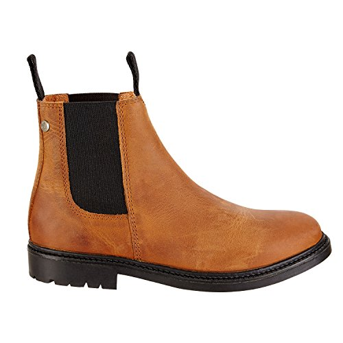 rubber slip made sole on with Portugal Work Cognac shoe boots riding boot ankle New inner comfortable cowhide in and robust boot Chelsea leather H0Rw6