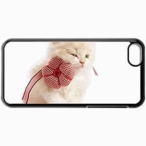 Fashion Unique Design Protective Cellphone Back Cover Case For iPhone 5C Case Cat Black