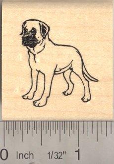 Mastiff Dog Rubber Stamp