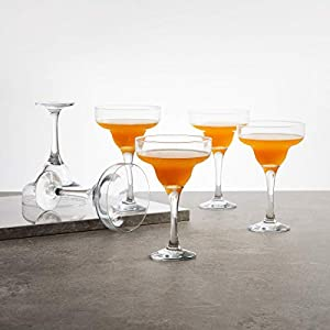 Home Centre Wexford Firenze Super Clarity Margarita Glass- Set of 6 – Transparent