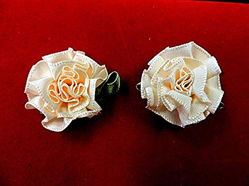 Victorian Cabbage Flower Applique Pair KE-1588