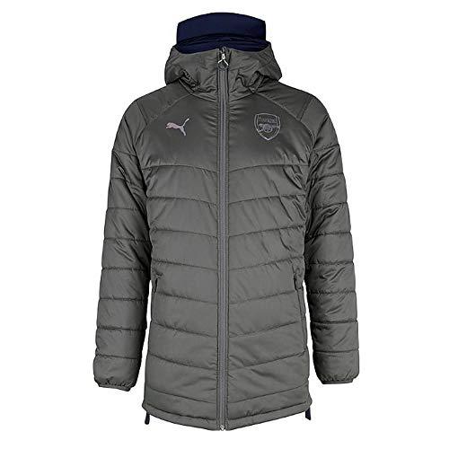 PUMA 2018-2019 Arsenal Reversible Bench Jacket (Grey-Navy) ()