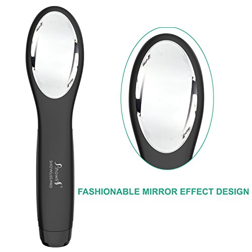 Travel Straightening Brush, Rechargeable Hair Straightening Brush (Black) by Showliss (Image #5)