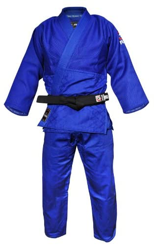 JUDO REVERSIBLE Uniform double Weave 900 GSM BLUE// WHITE ADIDAS STYLE Gi SUIT