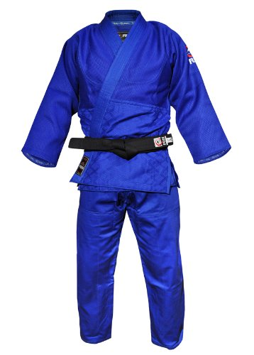 Fuji Double Weave Judo GI Uniform, Blue, 4