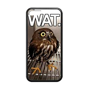 Hoomin Lovely Cartoon Owl iPhone 5C Cell Phone Cases Cover Popular Gifts(Laster Technology)