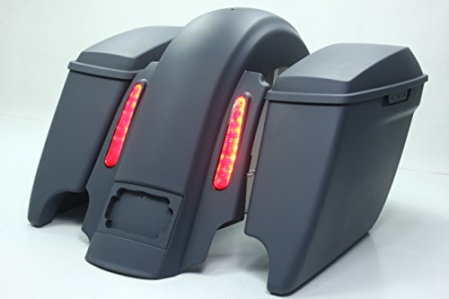 REAR END PACKAGE FOR HARLEY & BAGGERS - EXTENDED SADDLEBAGS, FENDER, AND (Candy Saddle)