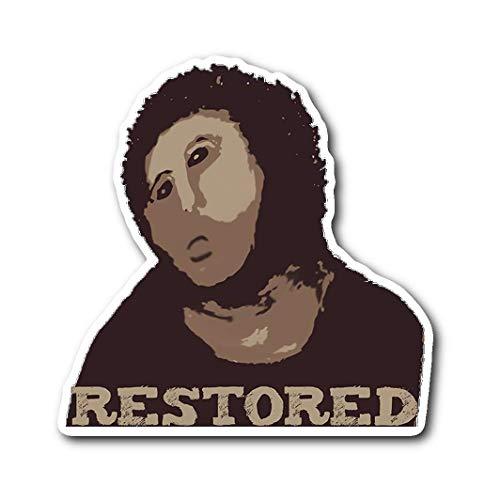 Ecce Mono Vinyl Stickers ECCE Homo Fresco Botched Restoration into (Sticker) ()