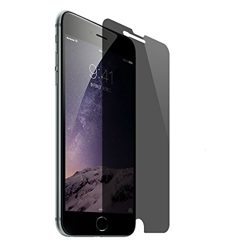 SANFEEL Privacy Tempered Glass for iPhone 8 Plus /7 Plus /6s Plus /6 Plus Screen Protector Anti Spy Peeping Film Easy to Install Scratch Proof Fingerprint Free Bubbles