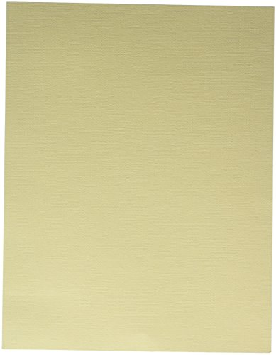 American Crafts Textured Cardstock (25 Pack), Straw