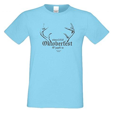 T-Shirt mit Motiv - Since 1810 Oktoberfest - Lustiges Outfit auch als Geschenk passend zur Wiesn in Hell-Blau