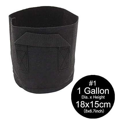 Amazon.com: Bolsa de cultivo de tela de galón negro | Bolsa ...