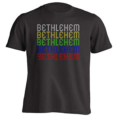 Retro Style Vintage Hometown - Bethlehem, GA 30620 - Black - Small - Souvenir - Unisex - T-Shirt]()