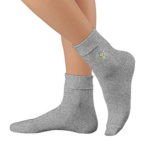 Flowers In The Greenhouse Cotton Crew Socks Athletic Socks Blend Stocking (Best Choice Greenhouse Instructions)