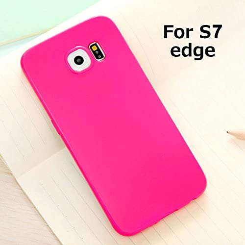 Galaxy S7 Edge Jelly Case, ANLEY Candy Fusion Series - [Shock Absorption] Classic Jelly Silicone Case Soft Cover for Samsung Galaxy S7 Edge (Neo Pink)  Sales