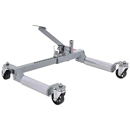 COLIBROX--Set of 2 1250 Lb. Capacity Vehicle Positioning Car 10'' Wheel Dolly Moving Tire. hydraulic wheel dolly. best hydraulic wheel dolly. car wheel dolly autozone. best garage car dolly. by COLIBROX (Image #4)