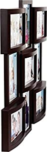 Iya Creations Premium Collage Plastic Photo Frame (Photo Size - 4 X 6, 9 Photos) (Color- Wooden)