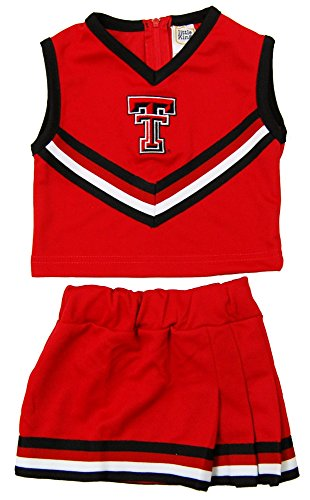 Costume Cheerleader Raider (NCAA Texas Tech Red Raiders Two Piece Cheer Dress, Size 8,)