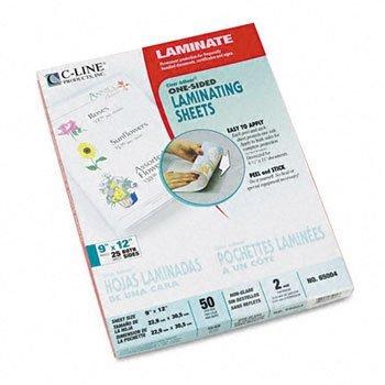 - C-Line® Cleer Adheer® Laminating Film SHEET,LAM,CR ADHR,9X12,50 (Pack of3)