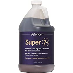 Super 7+ Newborn Navel Dip by Vetericyn Plus | Umbilical Cord Dry-Out Solution - Made in USA - 1 Gallon