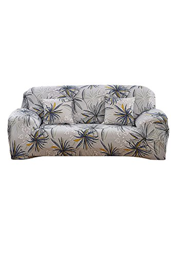 - Elvoes Floral Printed Sofa Cover Anti-Slip Elastic Slipcover Stretch Polyester Fabric Soft Furniture Protector Couch Cover (Three seater(74''-90''), Memory Forest)