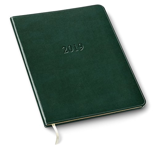 2019 Gallery Leather Large Weekly Planner Acadia Green 9.75