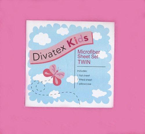 UPC 806222396507, Hot Pink Twin Microfiber Sheet Set Divatex Kids Sheets