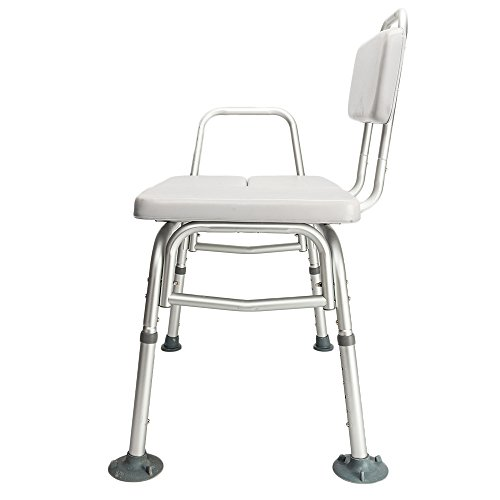 - MOONBUY Elderly Medical Shower Bath Chair,3 Blow Molding Plates Aluminium Alloy Shower Chair Handle