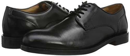 Clarks Coling Limit, Zapatos de Cordones Oxford para Hombre Negro (Black Leather)