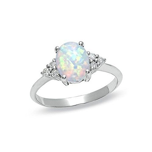 Opal Ring Round Opal White Stone Hand Jewelry Fashion Jewelry Ring,Outsta 2019 Fashion Jewelry Hot Sale!Under 5 Dollars Gifts for Her]()