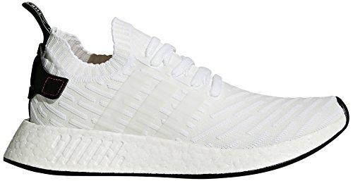 adidas Originals Men's NMD_R2 PK Running Shoe, Black/White, 8 M US