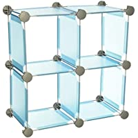 Organize It All Set of 4 Translucent Connecting Storage Cubes – Blue