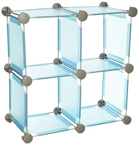 Organize It All Set of 4 Translucent Connecting Storage Cubes - Blue