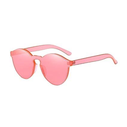Gafas, Challeng Hombre y mujer de verano retro gafas de gato Moda neutra Plancha de hierro plano Piloto Espejo Glamour Lens Travel Gafas de sol (Melon ...