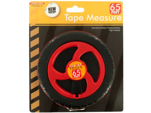 Measure, 65-Feet, Black/Red/Silver (Sterling Tape Measure)