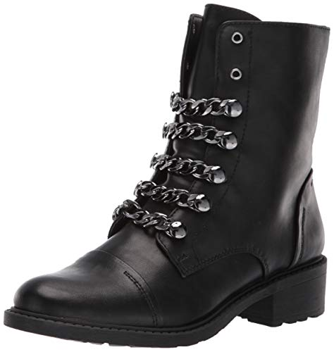 Circus by Sam Edelman Women's Dacey Fashion Boot, Black Waxy, 7 M US (Circus By Sam Edelman Lace Up Boot)