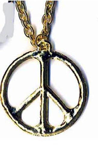 JS69 (Gold)Metal Tone Peace Sign