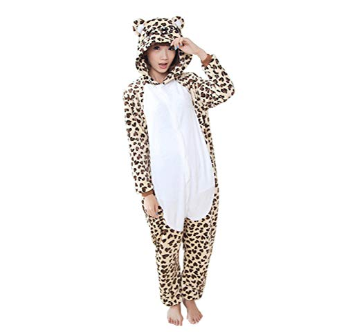 7708263e Adult Onesies for Women and Men, Animal Kigurumi Stitch Onesie Costume  Pajamas PJS for Adults Leopard M
