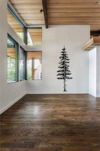 Athena Bacon Dorris Tall Redwood Pine Tree Waterproof Wall Decal Waterproof Wall Stickers Art Decor Vinyl Peel and Stick Mural Wall Sticker Decals for Room Home