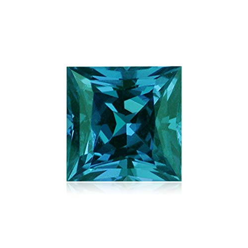 Alexandrite Lab - Mysticdrop 3.07-3.75 Cts of 8.0x8.0 mm AAA Square-Princess Cut Lab Created Alexandrite (1 pc) Loose Gemstone