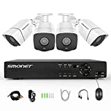 [Full HD] Security Camera System 1080P,SMONET 4 Channel Home Security Camera System(1TB Hard Drive),4pcs 2MP Outdoor Cameras,Super Night Vision,P2P,Easy Remote View,Free APP,NO Monthly Fee Review
